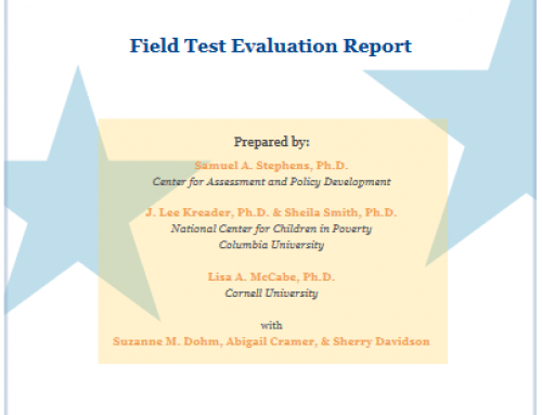 QUALITYstarsNY Field Test Report