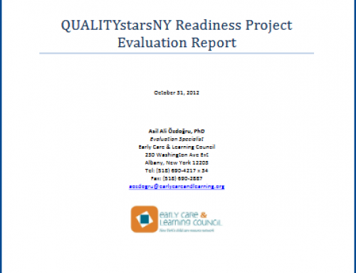 QUALITYstarsNY Readiness Project Evaluation Report