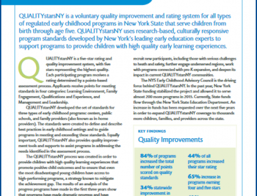The QUALITYstarsNY Assessment Report